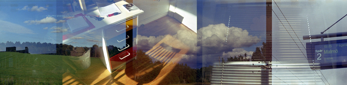 Photography by Camilla Lekebjer: Double exposure on film