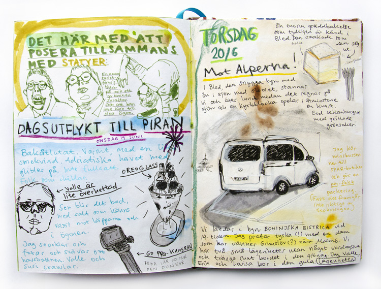 Art by Camilla Lekebjer. Visual journal: Slovenia