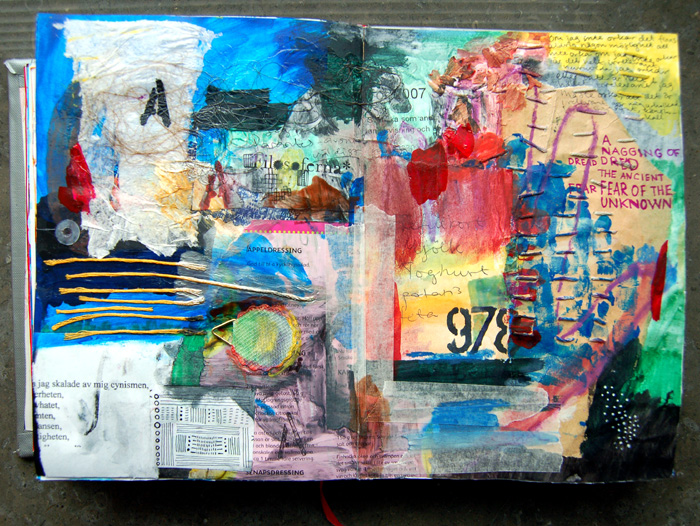 Art by Camilla Lekebjer. Visual journal: 97-98