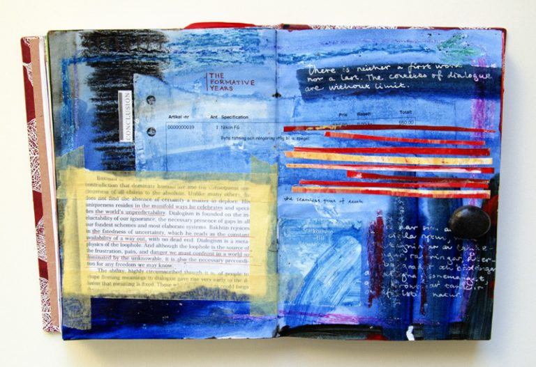 Art by Camilla Lekebjer. Visual journal: Bakhtin